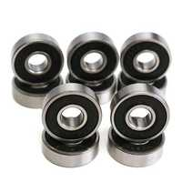 10pcs 8x22x7mm Deep Groove Miniature Bearing Seal Ring 608-2RS 608RS Deep Groove Ball Bearing