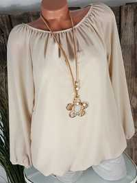 Plus Size Brief Long Sleeve Solid Color Chiffon Blouse