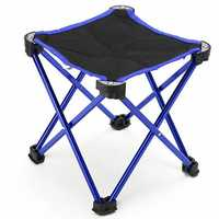 ZANLURE Lightweight Aluminum Folding Fishing Chair Stool Seat For Outdoor Fishing Camping Picnic