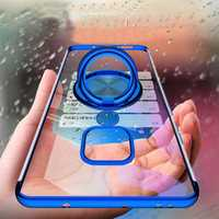 Bakeey Magnetic Car Holder Ring Holder Thin Color Plating Soft TPU Protective Case For Huawei Mate 20