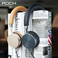 ROCK RAU0512 Universal Stereo Wired Control Headset Headphone with Mic for Tablet Mobile Phone
