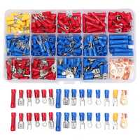 270pcs Insulated Crimp Terminals Wire Connectors Butt Spade Ring Assorted Kit
