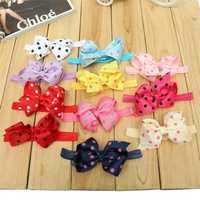 Cute Kids Girl Bowknot Polka Dot Ribbon Baby Infant Toddler Children Elastic Bow Hair Band Headwear Accessories