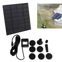 1.2W Mini Solar Power DC Brushless Submerged Water Pump Garden Landscape Fountain Decoration