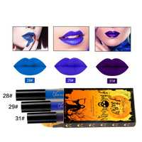 NICEFACE Halloween Matte Lipstick Liquid Lip Gloss Kit Suit Retro Pumpkin Nude Makeup