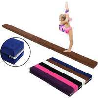 71.7x3.9x2.6inch Airtrack Professional Gymnastics Balance Mat Beam Flannel GYM Practice Training Protective Equipment