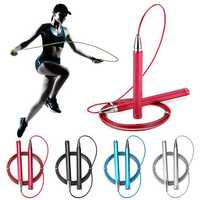3M Steel Wire Speed Skipping Rope Jumping Adjustable Crossfit Fitnesss Exercise Tools