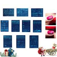 1Pc Nail Stamping Template DIY Polish