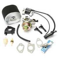 Carburetor with Ignition Coil Spark Plug Air Filter For Honda GX390 GX340