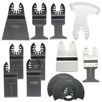 12pcs Saw Blades Oscillating Multitool for Fein Bosch Porter Dremel Ridgid Oscillating Tools