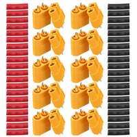 10 Pair URUAV XT60 Male Female Bullet Connectors Power Plugs with Heat Shrink Tube for Lipo Battery