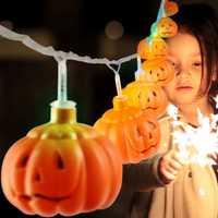 MoFun 16PCS Halloween Pumpkin LED String Light Toy Decoration Toys Party Home Decor