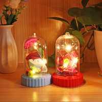Beauty and the Beast Battery Powered LED Rose Bottle Night Light String Light Desk Lamp Romantic Valentine's Day Birthday Gift