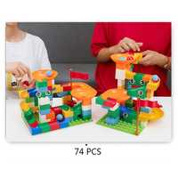 Building Blocks Assembled Car Slide Blocks Race Run Slide Kids Early Educational Toys
