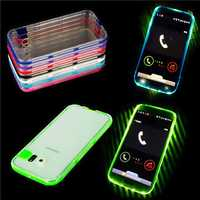Flashlight Up Remind Incoming Call Case with Plectrum For Samsung Galaxy S6