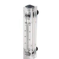 Liquid Flowmeter Water Flow Meter Panel Rotameter Without Control Valve LZM-15 0.2-2LPM 16-160LPH 1-7LPM 10-100LPH 25-250