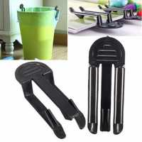 2pcs Kitchen Trash Bag Fixed Clip Dustbin Waste Bin Garbage Can Holder Clamp