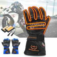 BIKIGHT 1 Pair Winter Warm Electric Heated Glove Touch Screen Skiing Fleece Lined Thermal Gloves For Riding Cycling