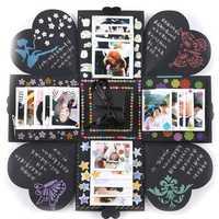 Creative DIY Manual Explosion Box Memory Scrapbook Photo Album Craft Kits Gifts