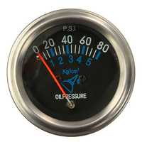 12V DC Automotive Electrical Mechanical Fuel Oil Pressure Gauge Black FG