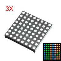 3Pcs Three-color Common Anode RGB LED Dot Matrix Display Module Compatible Colorduino