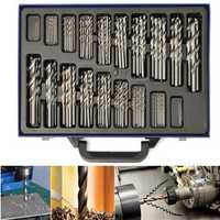 170pcs 1-10mm HSS High Speed Steel Straight Shank Twist Drill Bit Set with Case