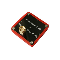 MXK 5.8G 9DBi Flat Patch Antenna SMA Male/RP-SMA Male with Dustproof Side Shell for FPV Goggles