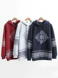 Printing Loose Long Sleeve Fleece Casual Women Hoodies