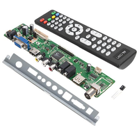 V56 Universal LCD TV Controller Driver Board + V56 Baffle Iron Stand