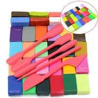 Baby Kids 3D Soft Handicraft Colourful DIY Oven Bake Polymer Clay Block Modelling Moulding Plasticine Tools Set