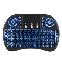 I8 Three Color Backlit French Version 2.4G Wireless Mini Keyboard Touchpad Air Mouse