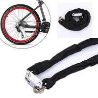 BIKIGHT 1.2m Metal Cycling Bicycle Motorcycle Heavy Duty Chain Lock Padlock Secure Bike Lock