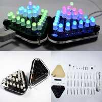 Geekcreit® DIY Touch Control RGB Full Color 5MM LED Triangular Pyramid Kit