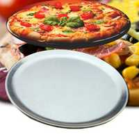 Aluminium Round Pizza Tray Plate Bake Pan Kitchen Cookware 10/12/14/18 Inches Frying Pan