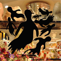 KST-23 Halloween PVC Goblin Group Wall Stickers Window Decoration Festival Wall Decals Poster