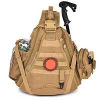 Men Nylon Large Capacity Tactical Bag Military Molle Crossbody Sling Daypack Outdoor Backpack