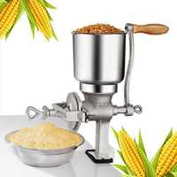 Hand Grain Mill Manual Corn Cereal Grinder Beer Brewing Tool