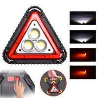 IPRee® 30W 50W 3COB+33LED USB Outdoor Work Light 4 Modes Camping Emergency Lantern Warning Lamp