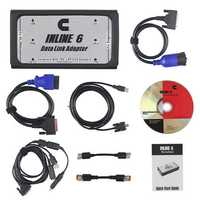 INLINE 6 Data Link Adapter Heavy Duty Car Diagnostic Tool Scanner Full 8 Cable Truck Interface