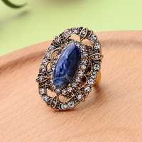 Elegant Blue Gem Stone Ring