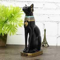 12'' Cat Figurine Egyptian Ancient Bastet Vintage Goddess Statue Home Decorations