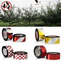 80m Polyester Film Bird Scare Tape Garden Orchard Birds Repellent Ribbon