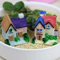 DIY Moss Micro Landscape Mini White Stair Decoration Garden Flower Pot Plant Decor