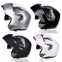Motorcycle Full Face Flip Up Helmet Dual Lens Anti-fog