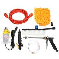 12V Car Wash Cleaning Pipe Gun Brush Sponge Glove Cleaner Tools Kit Set Exterior
