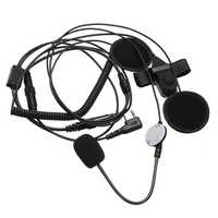 Open Motorcycle Helmet Headset Earpiece for Ken-wood Baofeng Puxing Wouxun Ham Two-way Radio
