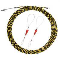 5m/10m/15m/20m Spiral Cable Puller Conduit Snake Cable Rodder Fish Tape Wire Guide