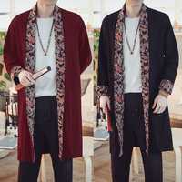 INCERUN Ethnic Style Loose Mid Long Cardigan Cloak Coats