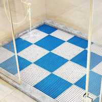 Solid PVC Handmade Stitching Hollow Non-slip Floor Mat Bathroom Toilet Supply DIY Mats