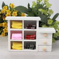 Dollhouse Cupboard Furniture Accessories Wooden Toys Mini Small Props
